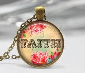 1 inch Round Pendant Tray - Faith